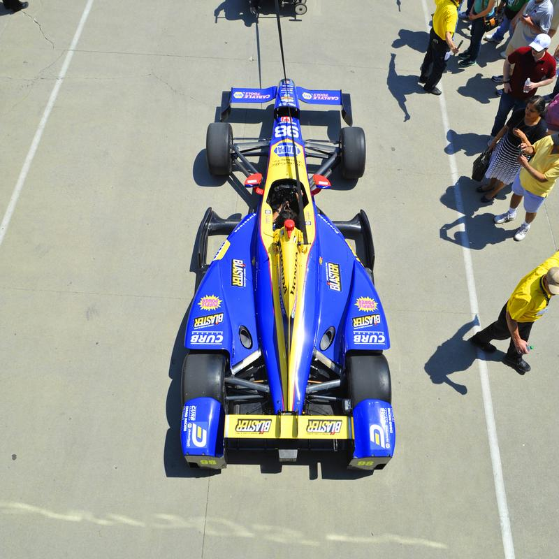 Alexander Rossi Indy 500 qualifying NAPA AUTO PARTS 98 Andretti Indycar above