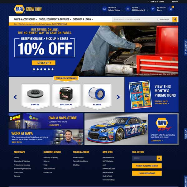 Welcome To The All-New NAPA Online!