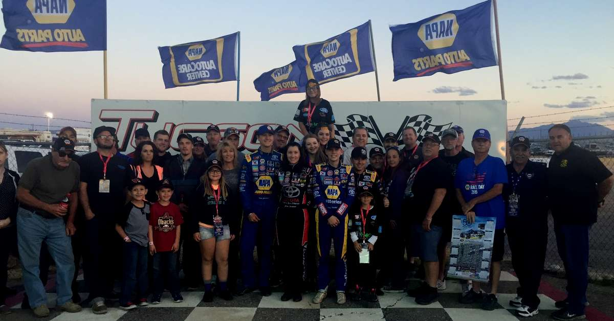 Todd Gilliland BMR NASCAR KN Pro Series West NAPA AUTO PARTS hospitality group
