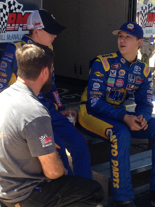 Todd Gilliland Riley Herbst BMR NASCAR KN Pro Series West NAPA AUTO PARTS