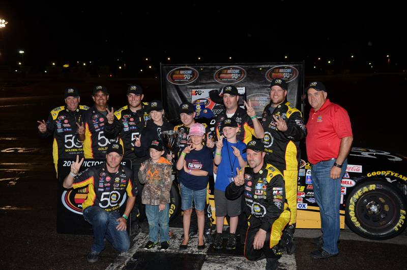 Chris Eggleston NAPA Filters Toyota Colorado National Speedway KN West team Victory Lane