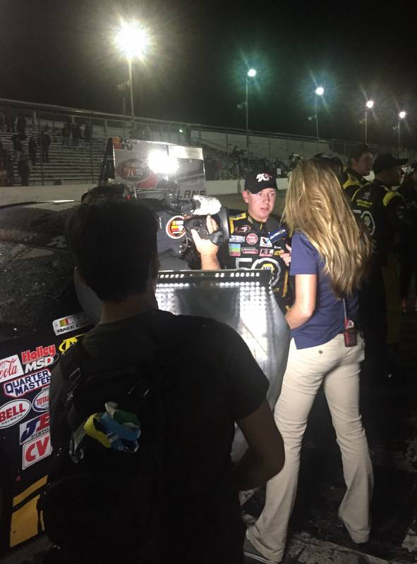 Chris Eggleston NAPA Filters Toyota Colorado National Speedway KN West winner TV interview