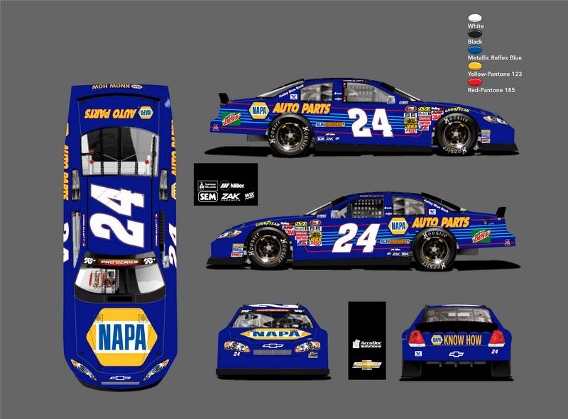 NAPA AUTO PARTS Chase Elliott 24 Chevrolet H Scott KN Pro Series West Sonoma 2016 rend