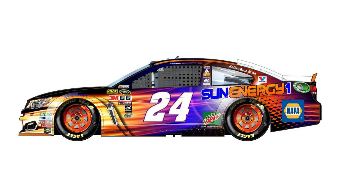 Sun Energy NAPA AUTO PARTS 24 Chase Elliott 2016 Daytona
