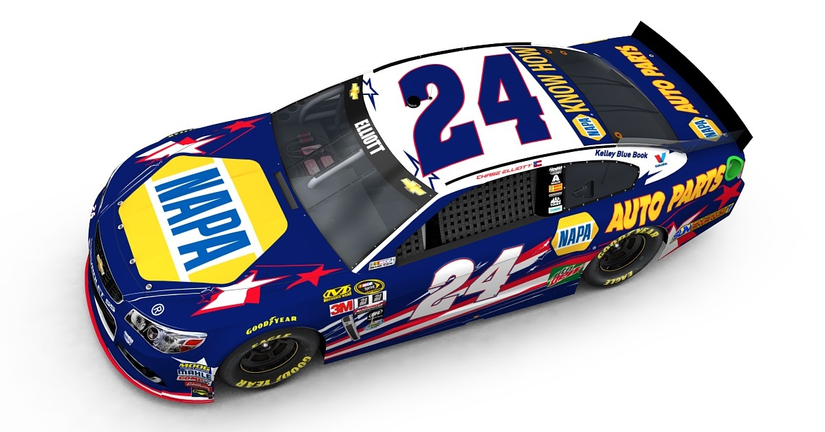Chase-Elliott-Kentucky-Speedway-NAPA-AUTO-PARTS-IFHF-Patriotic-Paint-Scheme-2016
