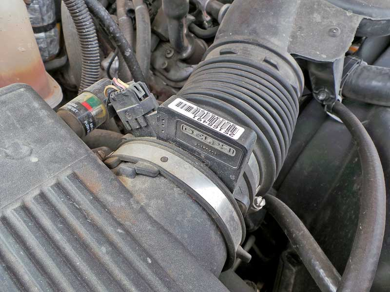 Typically mounted between the air box and the throttle body, the MAF (Mass Air Flow) sensor gets dirty over time. You can try cleaning it with special MAF cleaner, but usually they just need to be replaced.
