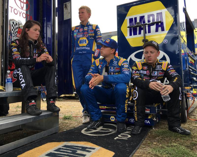 Todd Gilliland NAPA AUTO PARTS 2016 win Stateline Speedway BMR Drivers on break