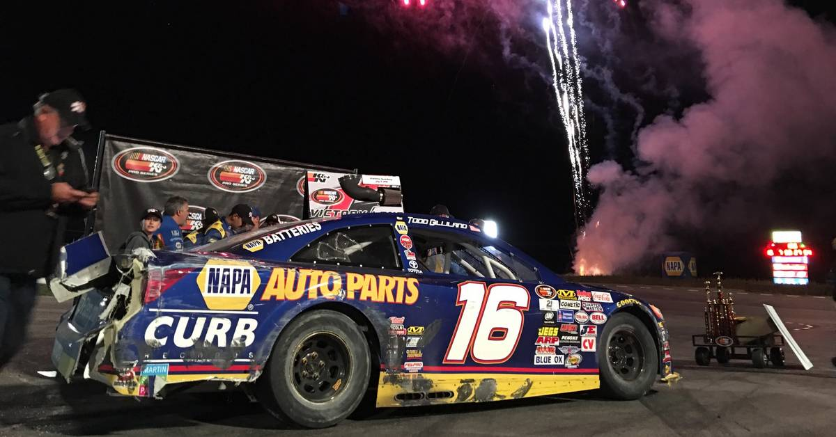 Todd Gilliland NAPA AUTO PARTS 2016 win Stateline Speedway feat