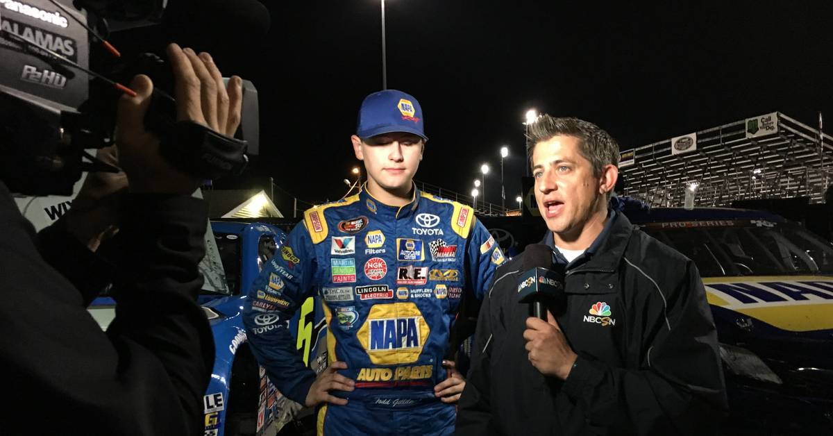 Todd Gilliland NAPA AUTO PARTS K&N Pro Series TV interview with Derek Stafford 2016 feat