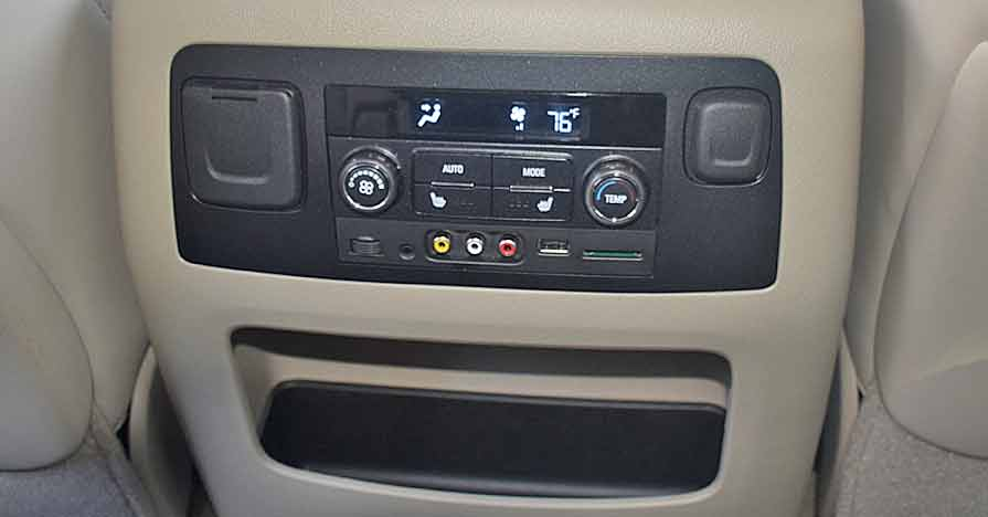 rear facing console