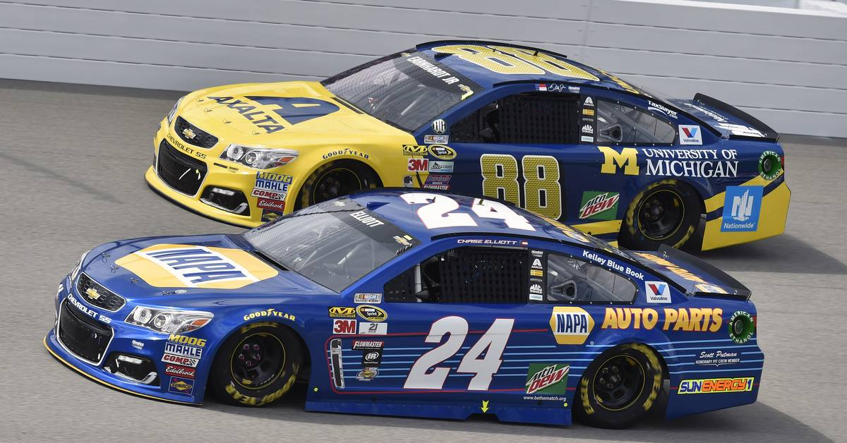 Chase Elliott and Alex Bowman