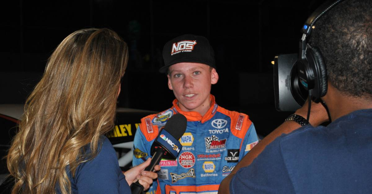 Riley-Herbst-TV-interview-NASCAR-KN-Pro-Series-West-Roseburg-NAPA-AUTO-PARTS-150-2016