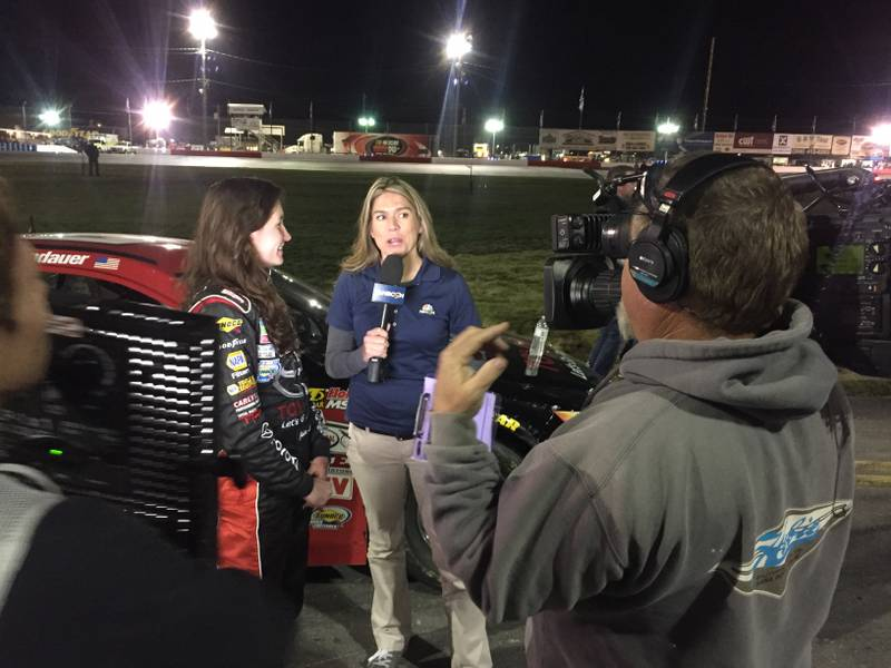 Idaho Meridian Speedway 2016 BMR NAPA AUTO PARTS Julia Landauer TV interview