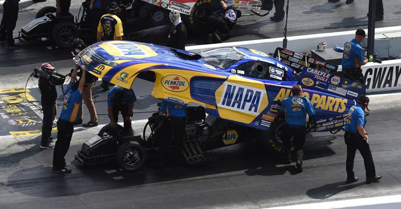 Capps Heads to Gateway near St. Louis with NHRA Countdown Points Lead