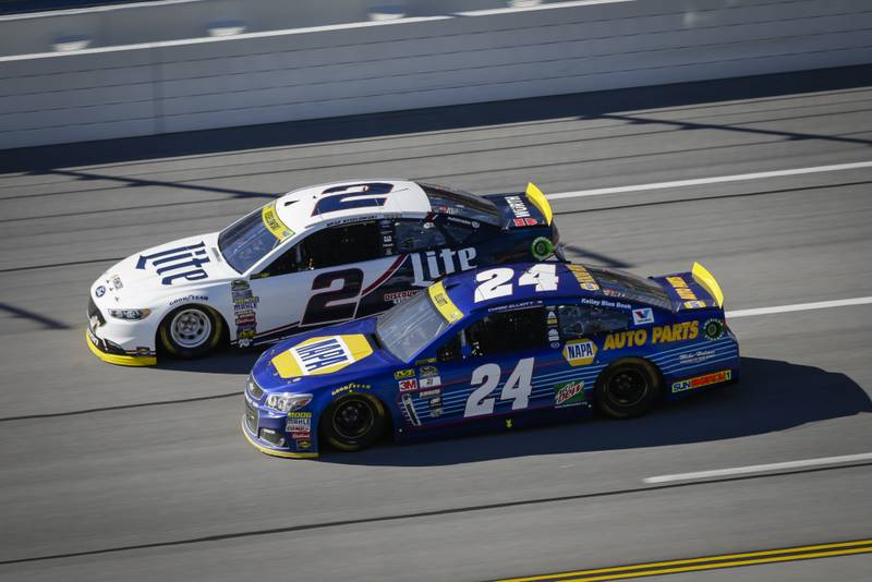 21-23 October, 2016, Talladega, Alabama USABrad Keselowski and Chase Elliott©2016, Barry Cantrell / NKP
