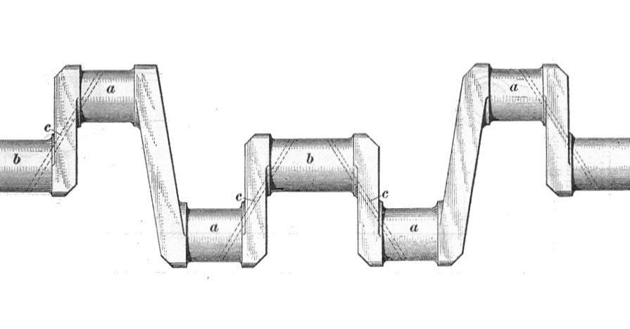Crankshaft Showing Oil Galleries