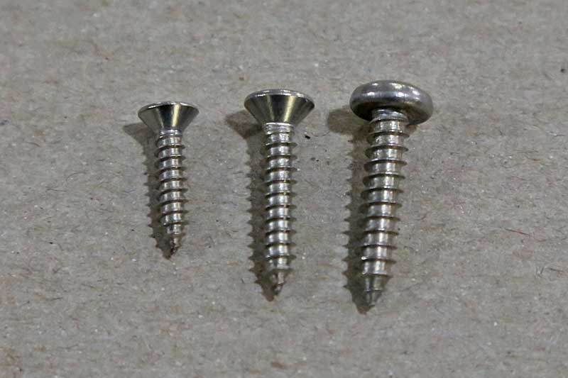 These stainless steel screws are good for most any application where there will be moisture present, plus they look great for much longer than steel screws.