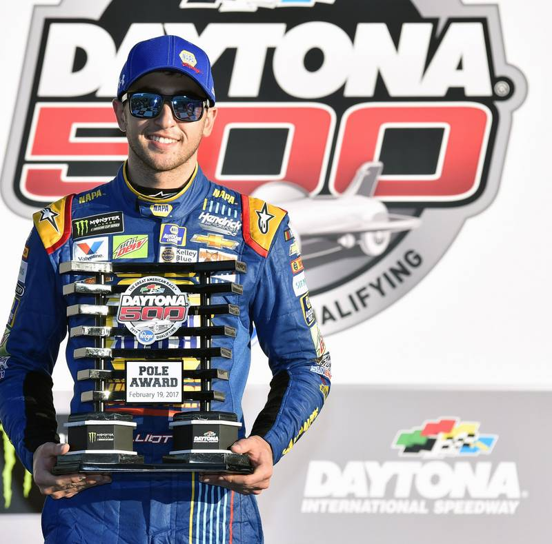 2017 NASCAR Cup - Daytona 500 Daytona International Speedway, Daytona Beach, FL USA Sunday 19 February 2017 Chase Elliott Pole Winner World Copyright: {Nigel Kinrade}/NKP
