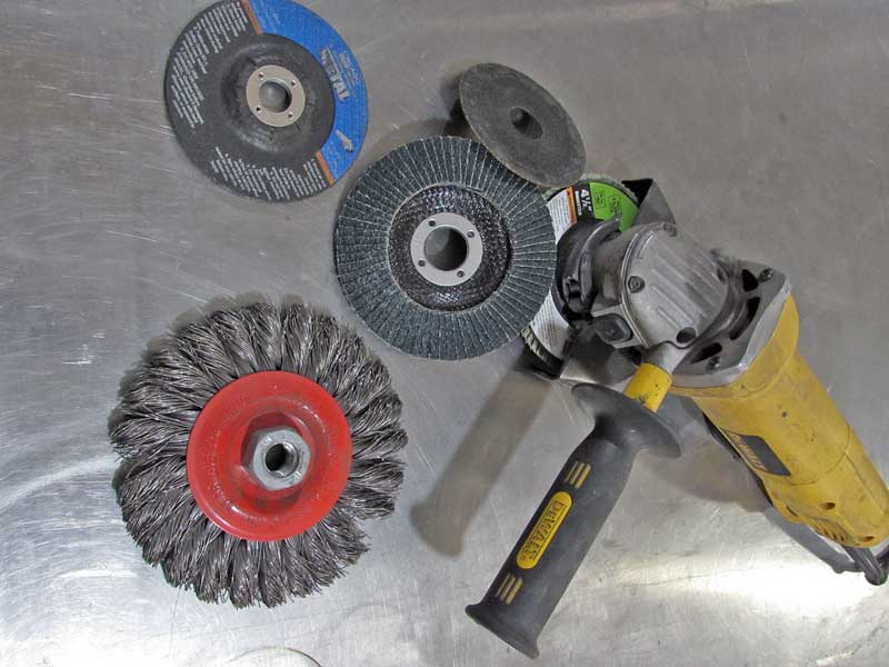 Electric grinders are the most efficient and fastest tools, but they are big.
