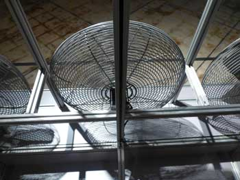 Large fan in garage as one way How to Dry a wet car