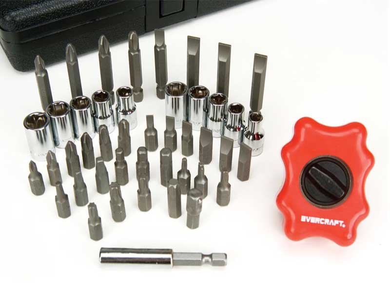 A good quality bit set like this one will have all the standard bits, plus a few of the less-common types such as Torx and safety bits such as square drive.