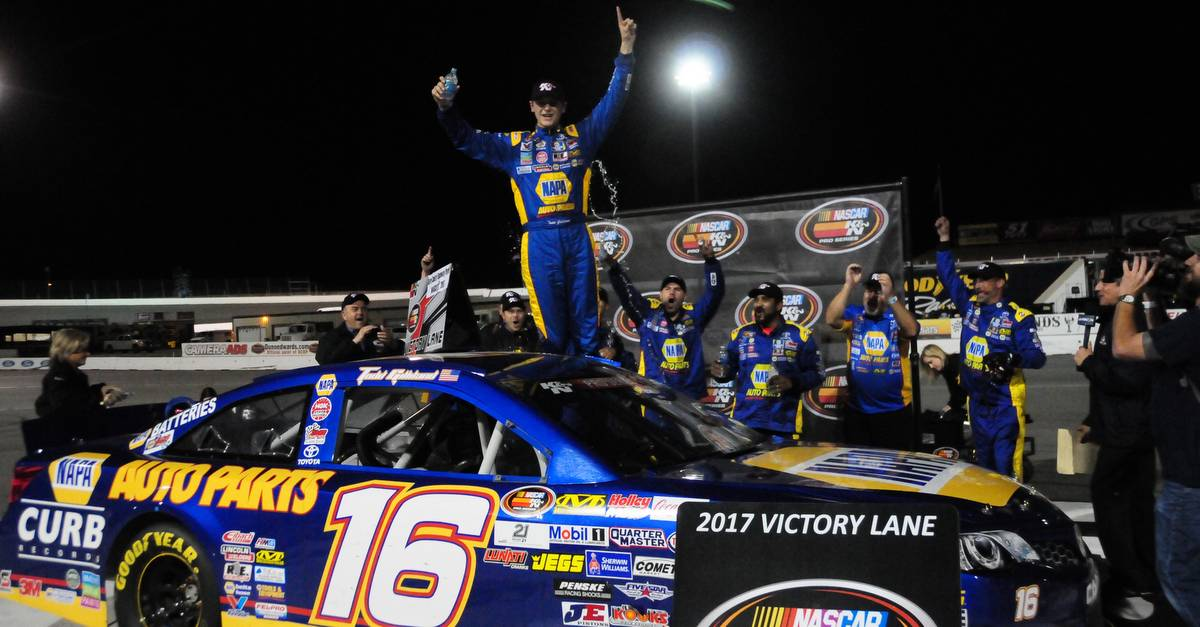 Todd Gilliland Kern County 2017 win 16 NAPA AUTO PARTS BMR Celebrating