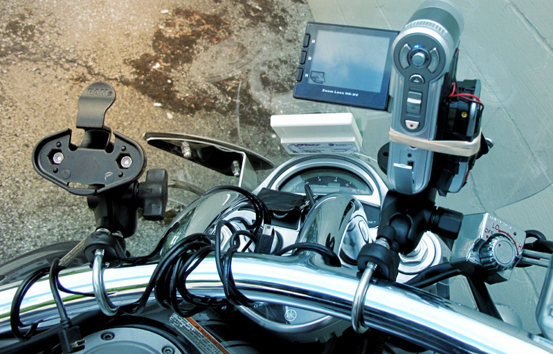 motorcycle camera mount