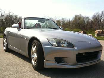 Clean Honda S2000 in the Springtime