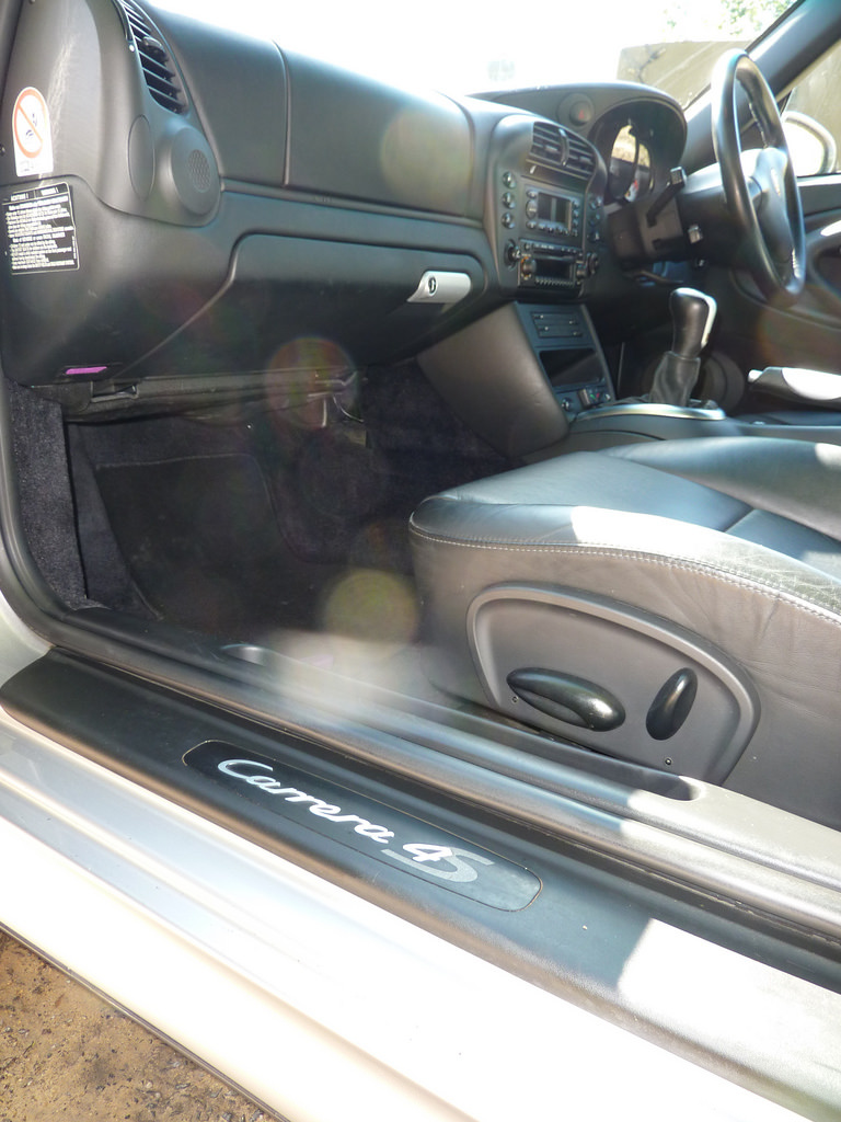 Car interior showing the hard to reach areas
