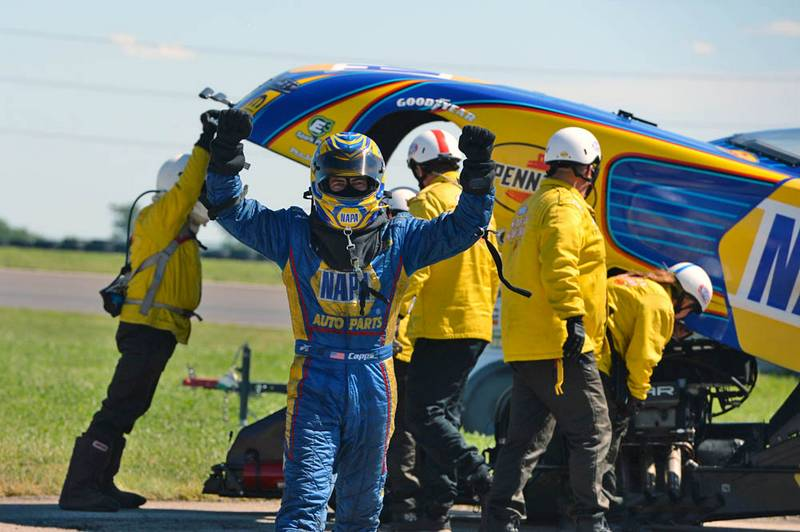 Capps Continues Streak at Topeka with Fourth Straight NHRA Title