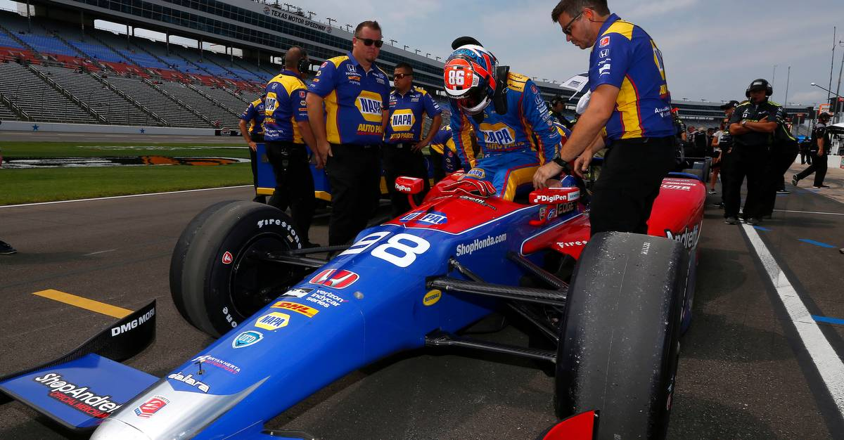 Verizon IndyCar Series Rainguard Water Sealers 600 Texas Motor Speedway, Ft. Worth, TX USA Friday 9 June 2017 Alexander Rossi, Andretti Herta Autosport with Curb-Agajanian Honda World Copyright: Phillip Abbott LAT Images