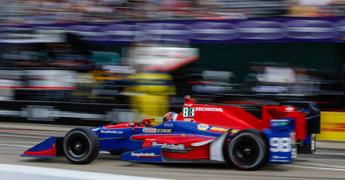 Verizon IndyCar Series Chevrolet Detroit Grand Prix Race 2 Raceway at Belle Isle Park, Detroit, MI USA Sunday 4 June 2017 Alexander Rossi, Andretti Herta Autosport with Curb-Agajanian Honda World Copyright: Jake Galstad LAT Images