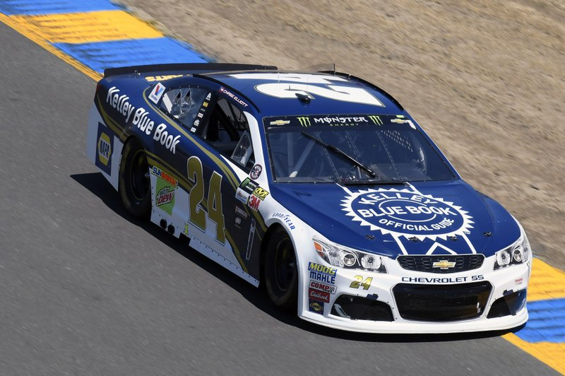 Monster Energy NASCAR Cup Series Toyota/Save Mart 350 Sonoma Raceway, Sonoma, CA USA Sunday 25 June 2017 Chase Elliott, Hendrick Motorsports, Kelley Blue Book Chevrolet SS World Copyright: Nigel Kinrade NKP