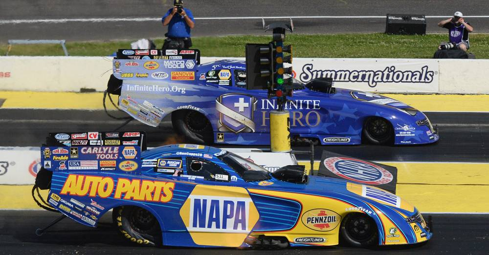 Capps Drives NAPA AUTO PARTS Funny Car into Final Round at Summernationals
