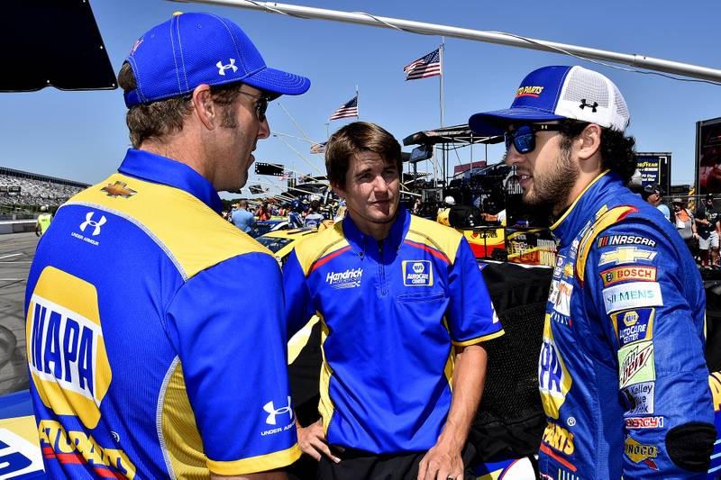 Monster Energy NASCAR Cup SeriesOverton's 400Pocono Raceway, Long Pond, PA USASunday 30 July 2017Chase Elliott, Hendrick Motorsports, NAPA Chevrolet SSWorld Copyright: Rusty JarrettNKP