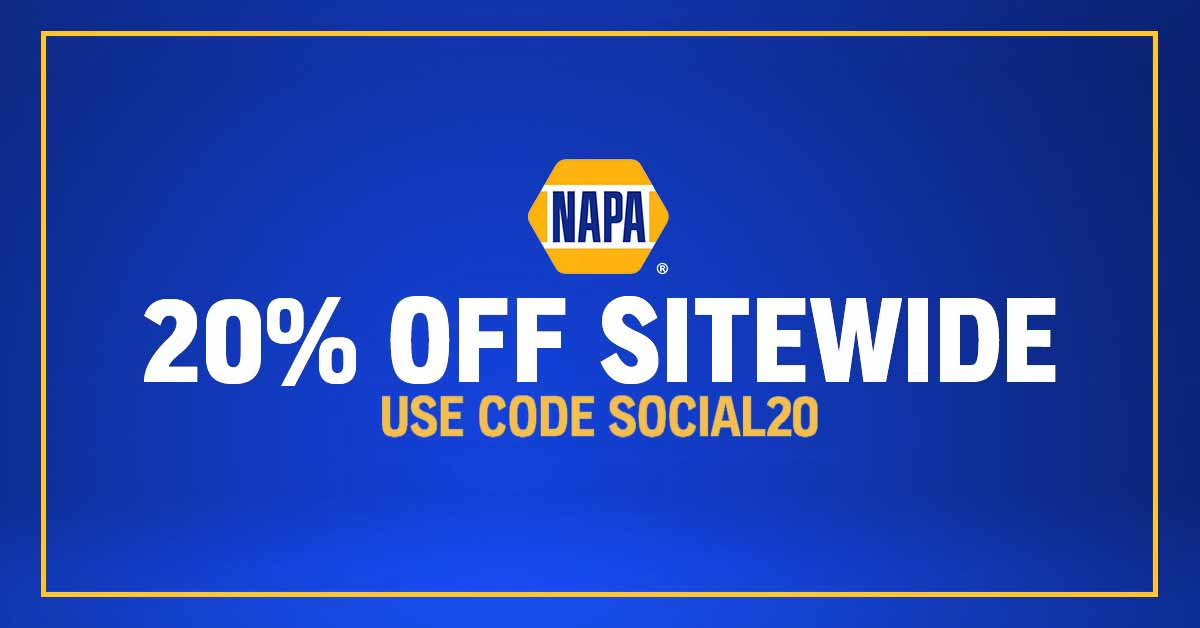 Hot Savings From NAPA - 20% Off Sitewide