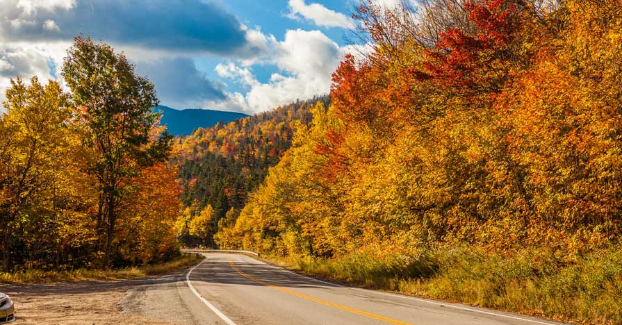Vermont fall foliage part of a great labor day road trips