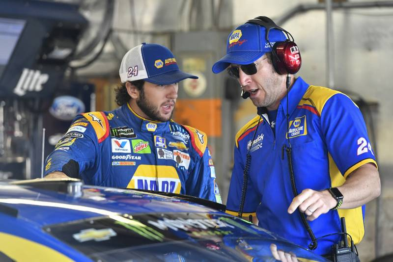 Monster Energy NASCAR Cup Series Pure Michigan 400 Michigan International Speedway, Brooklyn, MI USA Saturday 12 August 2017 Chase Elliott, Hendrick Motorsports, NAPA Chevrolet SS, Alan Gustafson World Copyright: Logan Whitton NKP