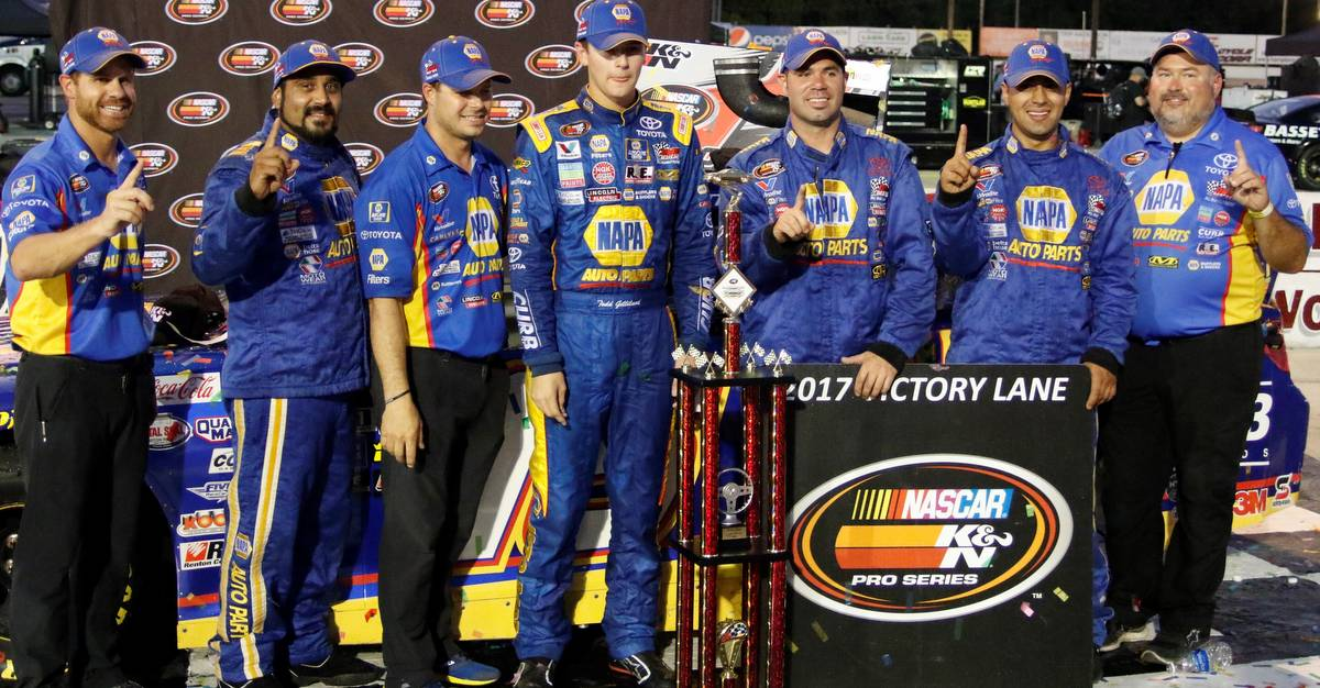Todd-Gilliland-wins-Langley-Speedway-2017-KN-Pro-Series-East-16-NAPA-Toyota-winning-crew.