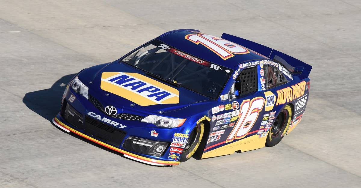 Todd Gilliland K&N East 2017 Dover NAPA AUTO PARTS Toyota on track
