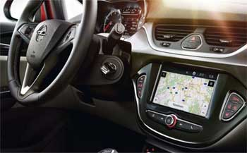 A built-in telematics system in a vehicle.