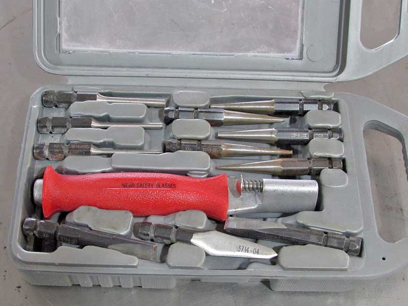 "A <a href=""https://www.napaonline.com/en/p/SER3714?cid=social_blog_122017_punch_chisel"" target=""_blank"" rel=""noopener"">punch and chisel kit</a> like this one is an easy way to keep it all together. We picked this one up from our local NAPA store."