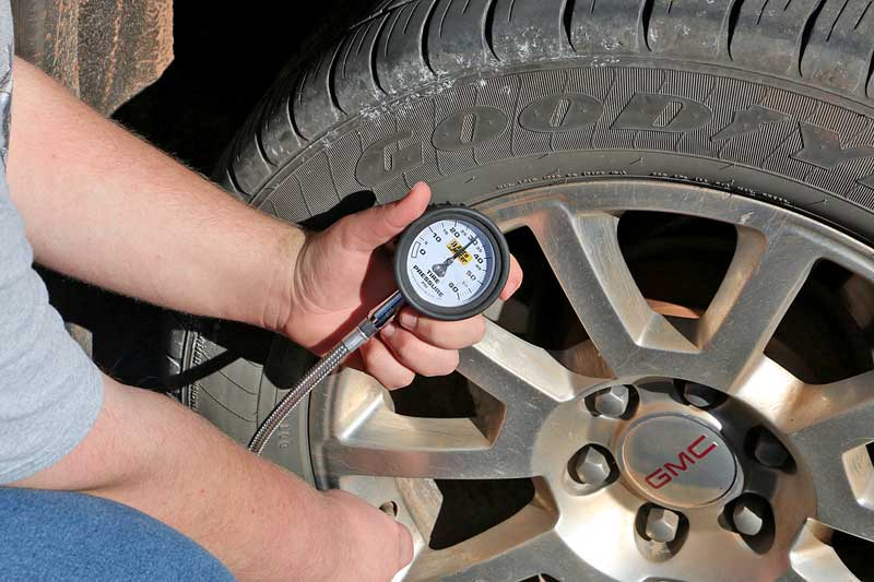 Even though many cars have automatic tire warnings, your new driver needs to know how to check manually and how to fill the tire too.