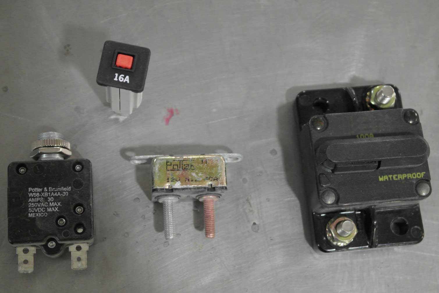 These re-settable breakers are useful for many applications.