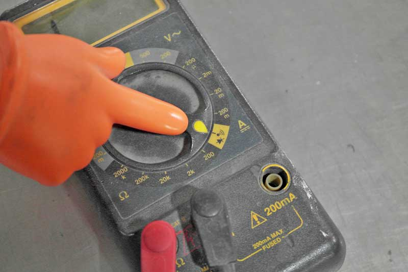 This is the continuity setting on a multimeter. It is your new best friend.