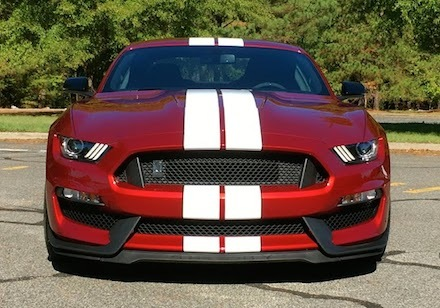 The 2017 Shelby GT350 dressed with the optional over-the-top racing stripe.