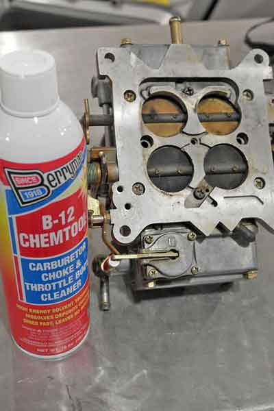 Carb cleaner is very good at breaking down carbon, varnish, and other fuel residues. It can also be used to find vacuum leaks.