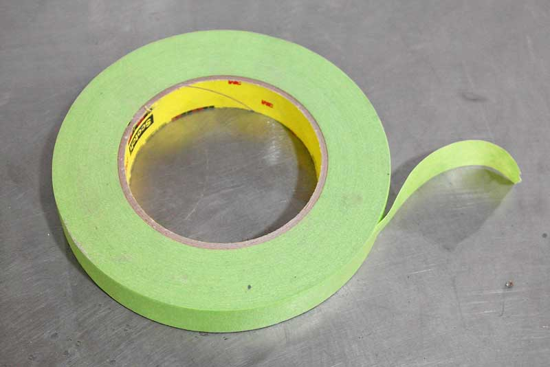 Masking tape is designed to protect one area from paint without bleeding. The better the tape, the less likely bleeds and lifting will occur.