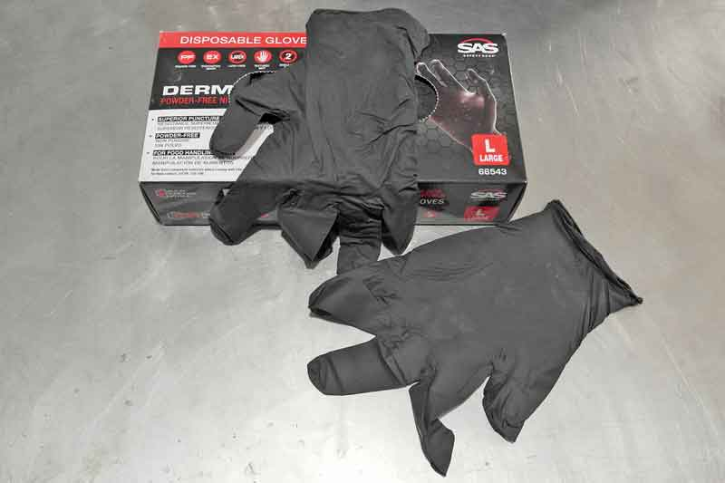 disposable gloves are very handy, especially when your project requires getting dirty and clean in quick succession. Keep a box on hand.
