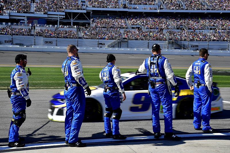 Monster Energy NASCAR Cup Series Daytona 500 Daytona International Speedway, Daytona Beach, FL USA Sunday 18 February 2018 Chase Elliott, Hendrick Motorsports, NAPA Auto Parts Chevrolet Camaro World Copyright: Rusty Jarrett NKP